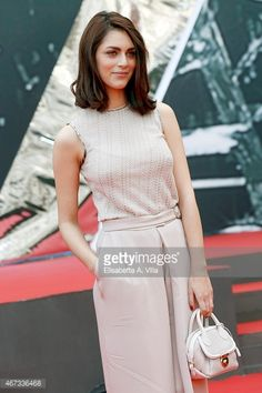 Actress Miriam Leone attends '1992' Tv Movie photocall at Cinema Moderno The Space on March 23, 2015 in Rome, Italy.