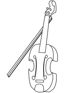 Violin Music Coloring Pages