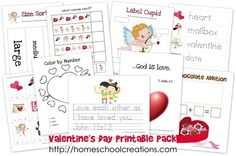 Free Valentine's Day Printable Pack from Homeschool Creations