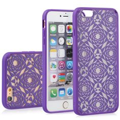 """Vena TACT ARMOR Polygon Design Hybrid PC+TPU Case for Apple iPhone 6 (4.78""""). Available in Black, Pink, Radiant Orchid, Silver and Teal."""