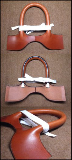 Leather handle design