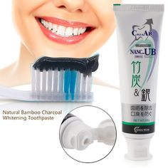 2 pcs Bamboo Charcoal Toothpaste Anti-halitosis Healthy Teeth Whitening Remove Smoke Stains Oral Hygiene Care Balck Toothpaste