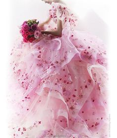 Pink wedding dress...