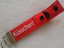 Schlüsselband Valentinstag Küsschen