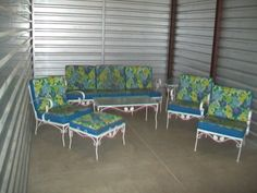 Wrought Iron Furniture Set For The Patio