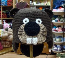 Here is a cute Beaver hat.  It was fun watching him come together!