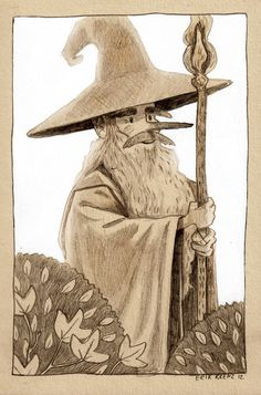 Characters from The Hobbit brilliantly sketched by Erik B. Krenz - The Fox Is Black