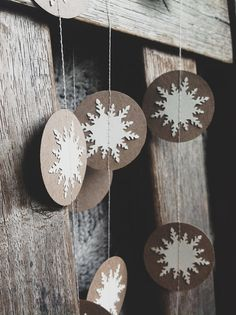 Paper White Winter Snowflake Garland - Choose Your Length