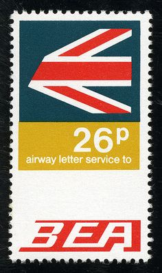 BEA | Airway letter stamp 1969 | Flickr - Photo Sharing!