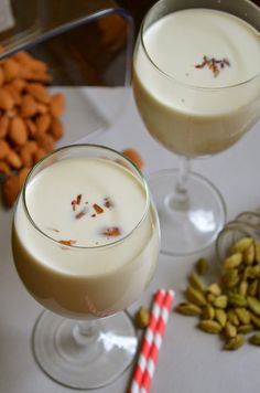 Thandai / Thadal - Indian Drink with richness of nuts and spices #Recipe #SummerSoiree