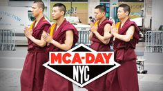 """MCA-DAY """"Buddhist Monks"""". Unconventional promotion for MCA-DAY-an annual tribute to musician & humanitarian, Adam """"MCA"""" Yauch of the Beastie..."""