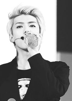 Sehun makes drinking water look amazingly sexy