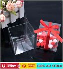20pc/50pc 5cm Clear Macaron Square Boxes Wedding Favour Bomboniere Baby Shower