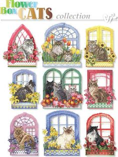 Flower Box Cat Collection- click on the pic and it will take you to the website where you will find all the charts and things you will need