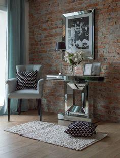 Aranżacja w stylu amerykańskim,  krzesło obiadowe Nina