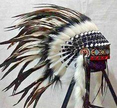 Indian Headdress for Newborn Baby/Neugeborenes Federhaube Indianer Kopfschmuck Headdress, Headpiece, Theater, Native American, Costumes, Inspired, Hats, Handmade, Animals