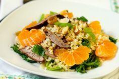Салат из булгура с печенью и мандаринами   Любимые рецепты