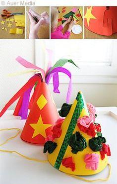 Hattu 1 on hyvä vappuhattu, hattu 2 on hauska juhlahattu. Easy Toddler Crafts, Toddler Activities, Diy For Kids, Crafts For Kids, Walpurgis Night, Diy And Crafts, Arts And Crafts, Beltane, Circus Theme