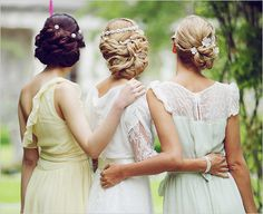 adorable. bridesmaids with the bride, love!
