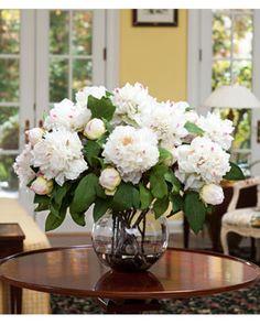 Etonnant Deluxe PeonySilk Flower Centerpiece