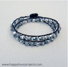 Classic Crystal Double Wrap Bracelet   AllFreeJewelryMaking.com
