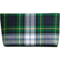 Burberry Tartan cotton clutch ($495) ❤ liked on Polyvore featuring bags, handbags, clutches, blue, blue clutches, green purse, blue purse, green handbags and blue handbags