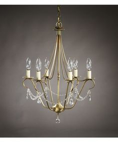 Northeast Lantern 929-LT6-CRY  19 Inch Chandelier