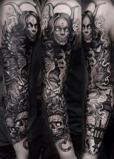 69 full sleeve tattoo