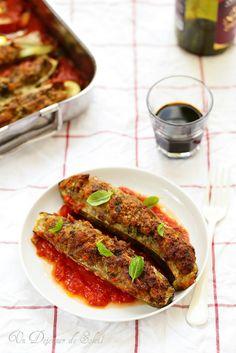 Un dejeuner de soleil: Courgettes farcies à la viande comme à Rome