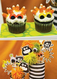 Monster Theme Party Food | ... monster mash invitation address labels monster cupcakes made from