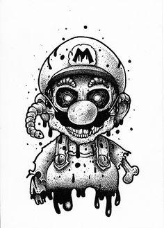 you stuff ? -would you stuff ? - WhatsApp Messenger: Más de mil millones de personas en más de 180 países usan WhatApp para mantenerse en contacto con amigos y familiares, en cualquier moment. Zombie Drawings, Creepy Drawings, Dark Art Drawings, Tattoo Design Drawings, Creepy Art, Pencil Art Drawings, Cool Drawings, Art Sketches, Horror Drawing