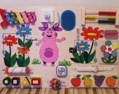 Busy Board Häuser Activity-Board sensorische von Woodledoodleshop