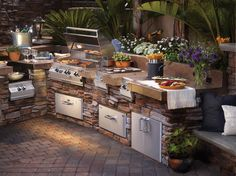 Riveting Grills For Outdoor Kitchens With Stone Veneer For L Shaped Outdoor  Kitchen Designs And Brushed