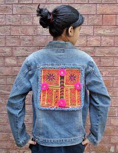 Vintage Kuchi Afghan Ethnic Hippie Medallion Choli Jacket N&N Jeans Chic XXL