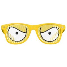 Cartoon Eyes Angry Yellow Wayfarer Sunglasses