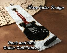 Rock and Roll  Guitar Cuff Pattern by ThreeFatesDesign on Etsy, $6.50