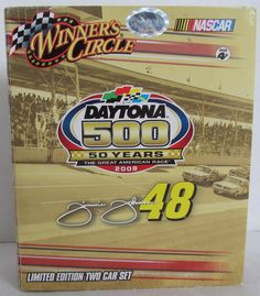 DAYTONA 500 CARS- Jimmie Johnson and Dale Earnhardt Jr-Chevrolets by CellarDeals on Etsy