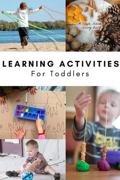 Loads of hands on learning activities for toddlers. In this blog post you will find all sorts of fun and play-based learning activities for 2 year olds. There are sensory bin ideas, activities that build fine motor skills, ideas for building gross motor skills, activities that improve oral language development, and more! Activities For 2 Year Olds, Toddler Learning Activities, Play Based Learning, Hands On Activities, Fun Learning, Preschool Activities, Easy Toddler Crafts, Toddler Art Projects, Toddler Play