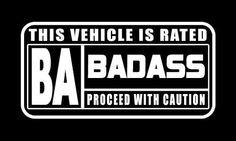 """Rated Badass"" Cool Decal sticker,Hot Rod,street outlaws,NHRA,Rat Rod. #TheVynilShop"