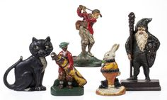 An outstanding selection of vintage cast-iron doorstops are included in the…