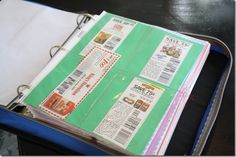 Coupon Book w/Sheet Protector Pages - What a clever idea.  If I only had a sewing machine.