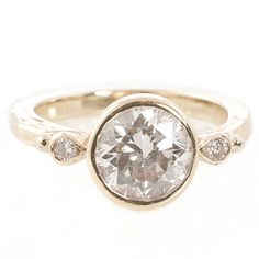 Gorgeous!! Recycled 18K gold Bezel Ring TracyMatthews.com!