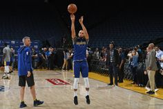 Stephen Curry of the Golden State Warriors shoots the ball during practice and media availability as part of the 2018 NBA Finals on June 2 2018 at. Stephen Curry Wallpaper, Nba Champions, Golden State Warriors, Finals, June, Basketball, Final Exams, Netball