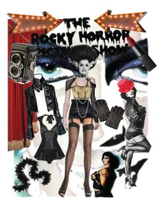 """""""The Rocky Horror Fashion Show"""" by faeriedance ❤ liked on Polyvore featuring Gucci, Dolce&Gabbana, Jonathan Simkhai, Pearls Before Swine, Miss Selfridge, Agent Provocateur, KLING, NARS Cosmetics, Vintage Marquee Lights and women's clothing"""