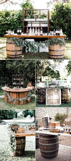 Drink Bar, Bar Drinks, Beverages, Chic Wedding, Perfect Wedding, Wedding Rustic, Diy Wedding Bar, Forest Wedding, Dream Wedding