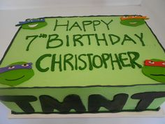 Ninja turtle birthday ideas on Pinterest | Turtle Party ...