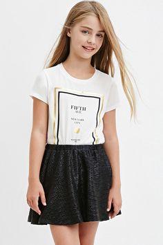Textured Metallic Skater Skirt (Kids)