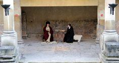 Costumed Actors at the Roman Baths in Bath