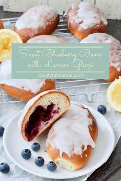 Sweet Blueberry Buns with Lemon Glaze | Jo's Kitchen Larder