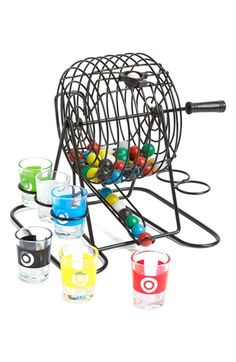 "Free shipping and returns on Barbuzzo 'Drinking Bingo' Kit at Nordstrom.com. ""Next person to draw a green ball has to take a drink and run through the house singing their favorite song from the '90s. Ready, go!"" Get creative, make your own rules and put an intoxicating spin on get-togethers with a classic bingo game featuring color-coordinated balls and shot glasses."